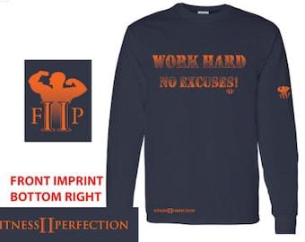 FIIP mens long sleeve navy dry fit