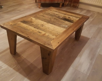 Reclaimed timber coffee table