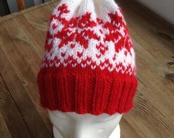Hand-knitted wool CAP, Norwegian