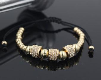 Gold Plated Full Crystal  Bracelet