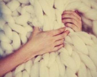 FREE SHIPPING! 100% merino wool blanket