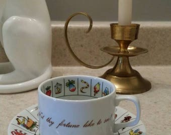 Astrology Tea Cup and Saucer