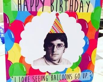 Louis Theroux Birthday Card