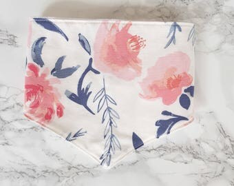 Watercolour Floral Bib, baby bandana bib, baby bandana, baby bibs, bibs, dribble bib, drool bib, burp cloth, gift set, baby shower gift