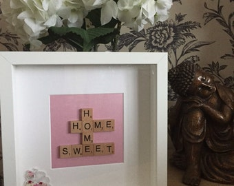 Home sweet home scrabble letter frame