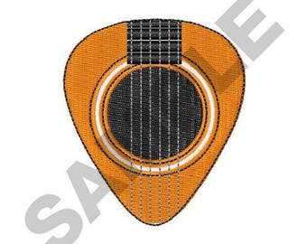 Acoustic Guitar Pick - Machine Embroidery Design