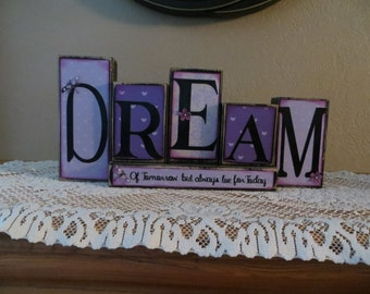 Dream Blocks Daughter Tomorrow Gift Baby Home Decor