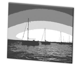 "Limited Edition ""Sailboats"" - Blue Ribbon Winner - Artistic Photography Canvas Print - 10% of Proceeds for Charity"