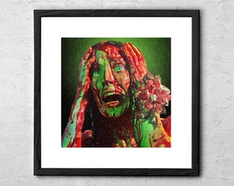 Carrie - Painting - Movie Poster - Movie Art - Horror - Horror art - Carrie White - Sissy Spacek - Horror Movie Poster - Scary Art - Creepy