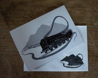 Steam Train // Steam Stack // Greetings Card