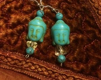 Turquoise citrine earrings