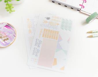 Geometric Mini Happy Planner Kit