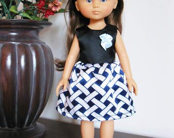 """Handmade Doll Clothes Dress fits 13"""" Corolle Les Cheries Dolls Handcraft 6"""