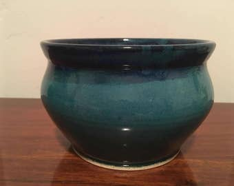 Handmade Ceramic Bowl, Small pottery bowl, Blue ceramic bowl, Teal pot, Modern decor, Ceramic bowl handmade pottery