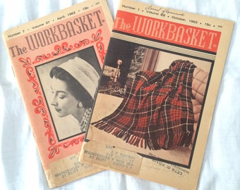 Two Vintage Issues of the Workbasket Magazine, April & October 1962