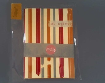 Diary notes inventive and recipes cooking textile of paper placemats straw