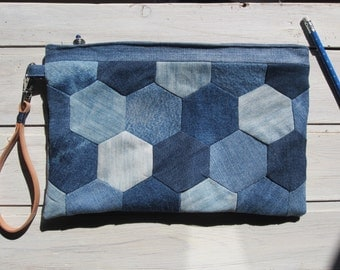 Recycled Jeans wrist Bag