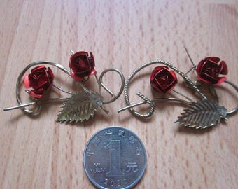 80s Vintage Rose Jewelry Pin made in China