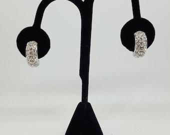 Silver Swarovski Crystal earrings.