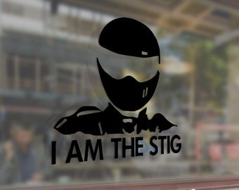 I AM THE STIG Jdm Art Vinyl Stickers Funny Decals Bumper Car Auto Computer Laptop Wall Window Glass Skateboard Snowboard Helmet