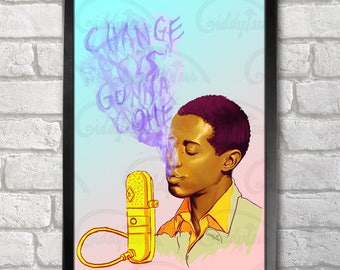 Sam Cooke Poster Print A3+ 13 x 19 in - 33 x 48 cm  Buy 2 get 1 FREE