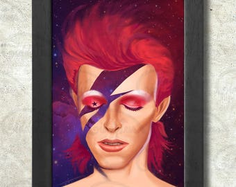 Ziggy Stardust Poster Print A3+ 13 x 19 in - 33 x 48 cm  Buy 2 get 1 FREE