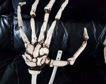Skeleton hand tie backs