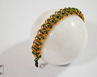 Green & Orange Shenanigans Bracelet, Bright, Fun, Pumpkin, Aquaman Inspired