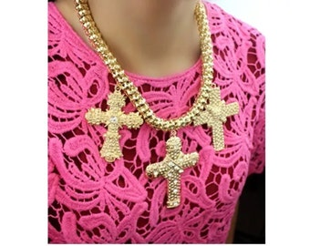 Gold Chunky Fashion Necklace