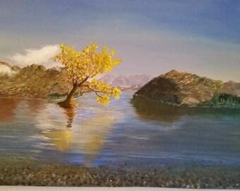 Mirrored Vista Lake Painting (Original)