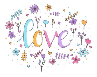 Love floral print