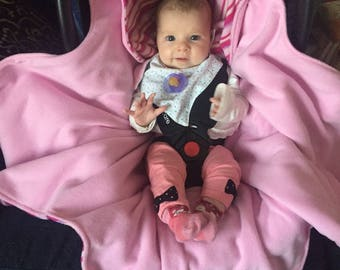 Fleece baby car seat/wrap