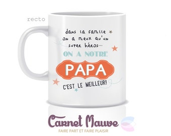 "Orange father ""Daddy is the best"" mug gift"