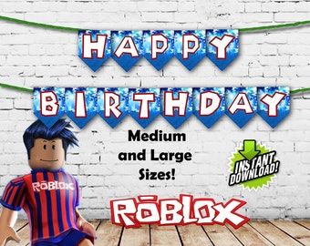 Roblox Happy Birthday Banner Instant download Printable