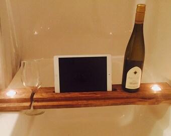 Bath Table, Bath Tray, Bathtub tablet holder, Bath Caddy