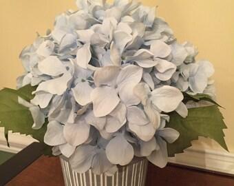 Beautiful handmade hydrangea flower arrangement