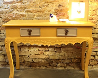 Mustard Console Table