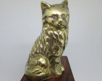 Cat Ornament   Kitten Ornament  Brass Cat   Cat statuette ornament   Brass Cat Paperweight