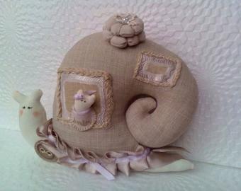 Tilda snail Handmade doll Home decor doll Snail toy Textile doll Baby Doll Decorative Doll Interior doll