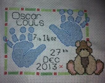 Baby Birth Cross Stitch