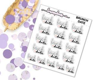 Brunch Date - Planner stickers erin condren happy planner