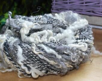 """Artyarn from Wensleydale and Gotland wool.  """"Salt and Pfefer"""".  130gr, 52m"""