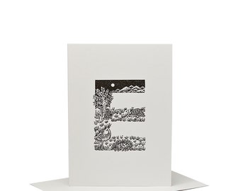 E for Emu - Letterpress Print