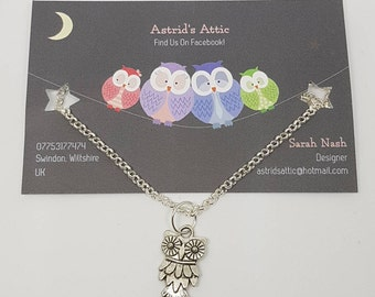 Silver Plated Owl Necklace