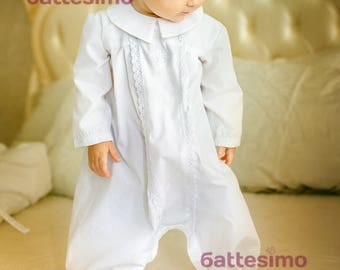 CHRISTENING romper by BATTESIMO LINE, boy baptism romper, baby boy baptism, boy christening gown, Christening gift, baptism outfit, Blessing