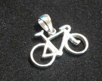 Bicycle Pendant Sterling Silver. 925 grade