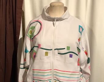 Vintage Tail white Tennis jacket, size M