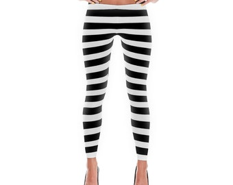 Piano Keys Leggings, Polyester and Spandex, Printed Leggings for Women