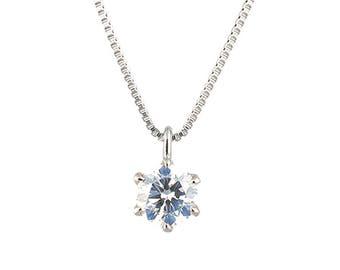 Platinum diamond pendant (0.10)