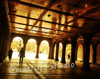 Canvas Print New York City Central Park Bethesda Fountain Terrace Angel of the Waters Photography